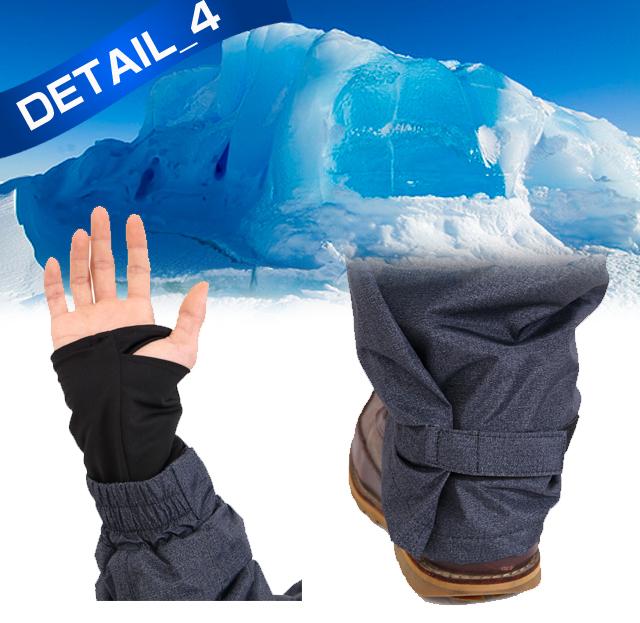 耐水圧10000mm!暖かさ際立つ防水防寒つなぎディテール03